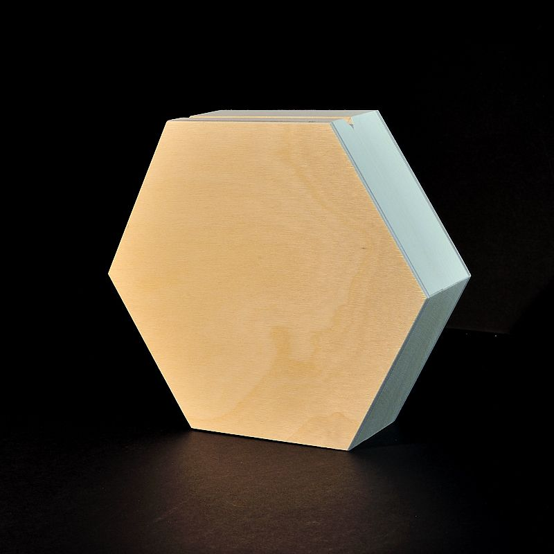 Plain Hexagonal Wooden Box 16 X 16 X 4 2 Cm